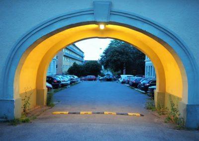 Italiagården. Portal