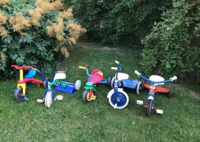 Italiagården. Sykkelparkering.